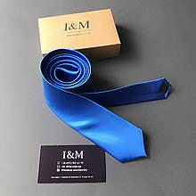 Галстук I&M Craft узкий синий электрик (020308)
