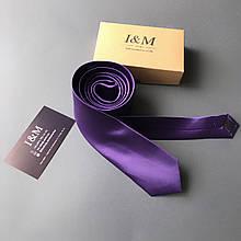 Галстук I&M Craft узкий фиолетовый (020309)