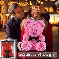 Мишка из Роз 25см в Подарочной Коробке