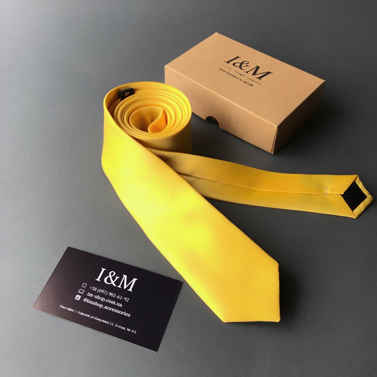Краватку I&M Craft вузький жовтий (020310)