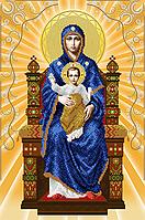 """Схема для вышивки бисером иконы """"Богородица на престоле"""" (серия """"Элит"""")"""