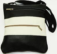 Женская кожаная сумка через плечо 22х24, фото 1