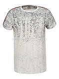 Чоловіча футболка з лампасами, фото 4