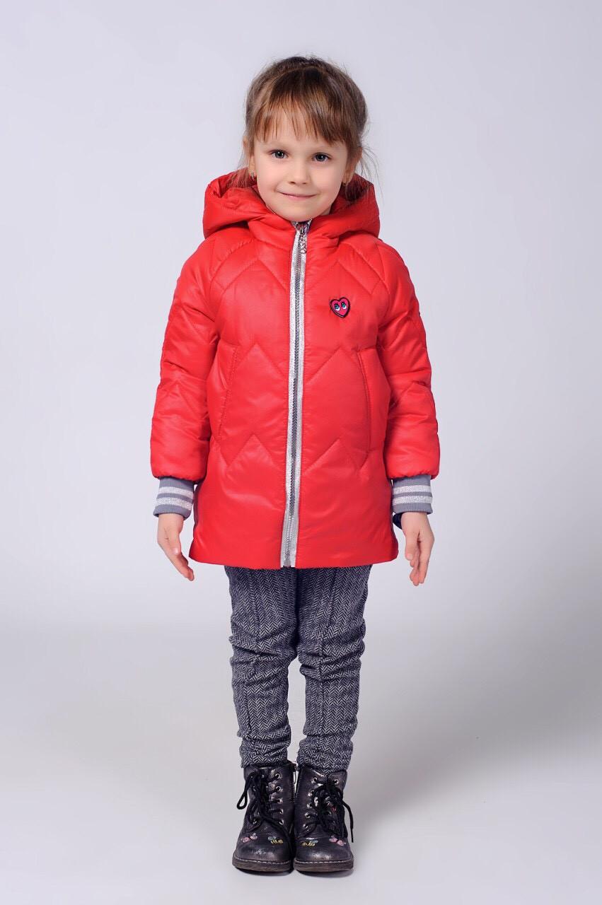 Детская деми курточка с рукавом на трикотажной манжете.