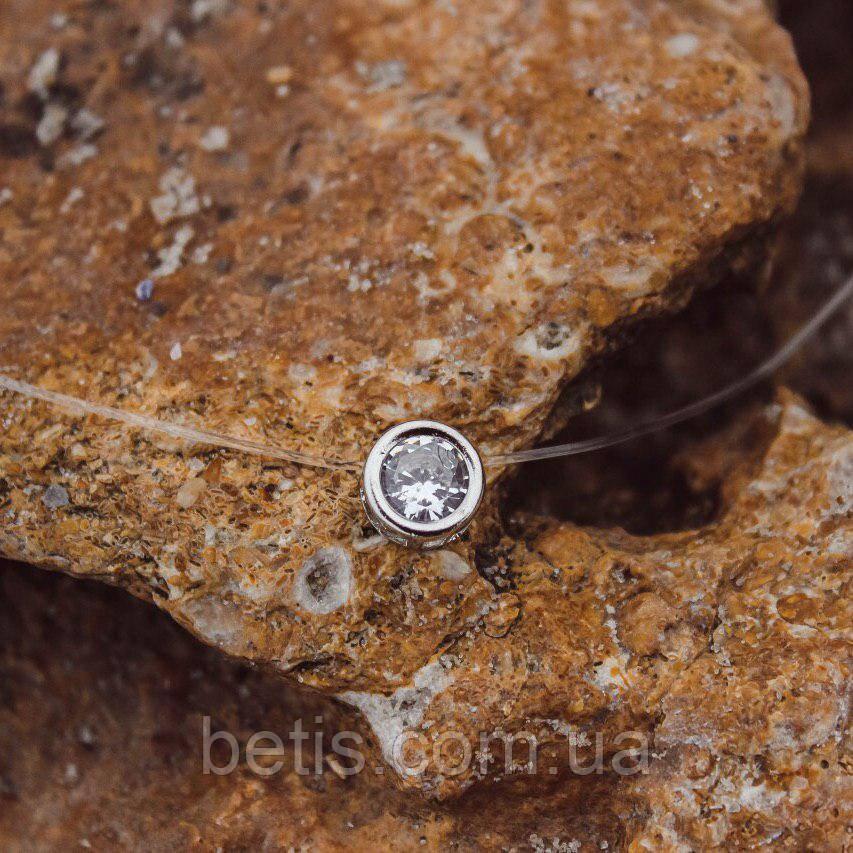 Колье Кристалл на силиконовой нити