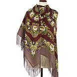 Молодушка 1511-16, павлопосадский платок шерстяной  с шелковой бахромой Стандартный сорт, фото 2