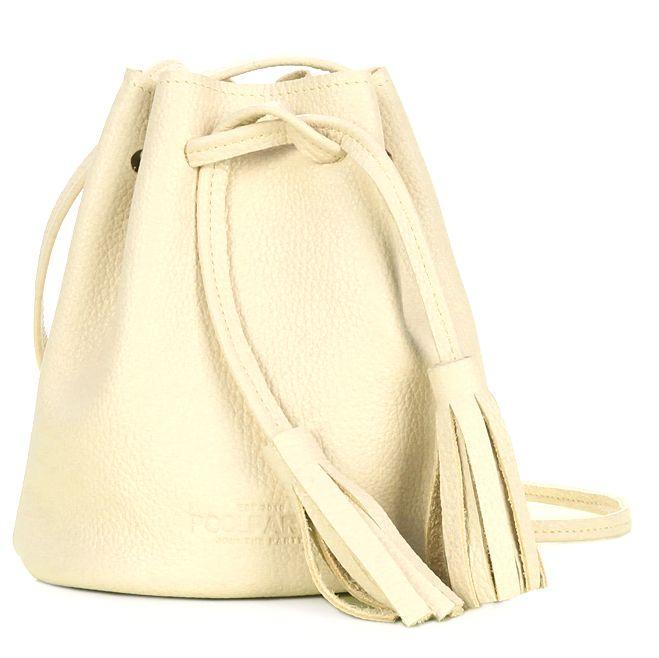 Кожаная сумка POOLPARTY bucket-lemonade желтый