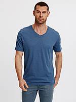 Голубая мужская футболка Lc Waikiki / Лс Вайкики с V-образным вырезом 3XL