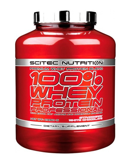 Сывороточный протеин Scitec Nutrition - 100% Whey Protein Professional (2350 грамм) vanilla very berry/ваниль-ягода