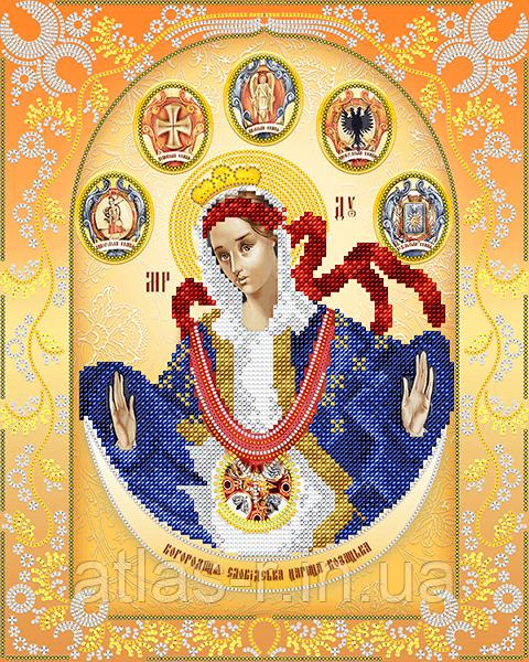 """Схема для вышивки бисером иконы """"Богородица Слободская Царица Козацкая"""""""