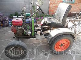 """Самодельный трактор с двигателем """"BULAT"""" ВТ190FE(16л.с. с электростартером). Зарекомендовал себя с хорошей стороны! Звоните,если есть вопросы и пожелания!!!!"""