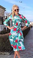 Женский летний сарафан с пальмами