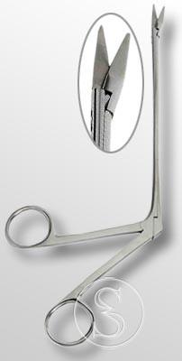 Ножницы нейрохирургические по типу конхотома 255 мм.