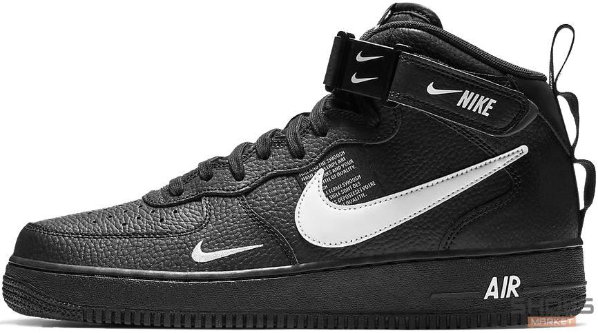 f0e93196 Мужские кроссовки Nike Air Force 1 Mid 07 LV8 Utility Black -  Интернет-магазин обуви