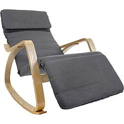 Кресло-качалка Oscar серо-коричневый