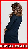 Прямое платье из креповой ткани универсальное | цвет - синий, фото 1
