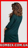 Прямое платье из креповой ткани универсальное   цвета - зеленый, бирюзовый, фото 1