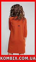 Прямое платье из креповой ткани универсальное | цвет - оранженый, фото 1