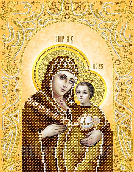 """Схема для вышивки бисером иконы """"Вифлеемская Икона Божией Матери"""""""