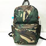 Рюкзаки спортивные камуфляж Nike (светлый коричневый)28*40см, фото 3