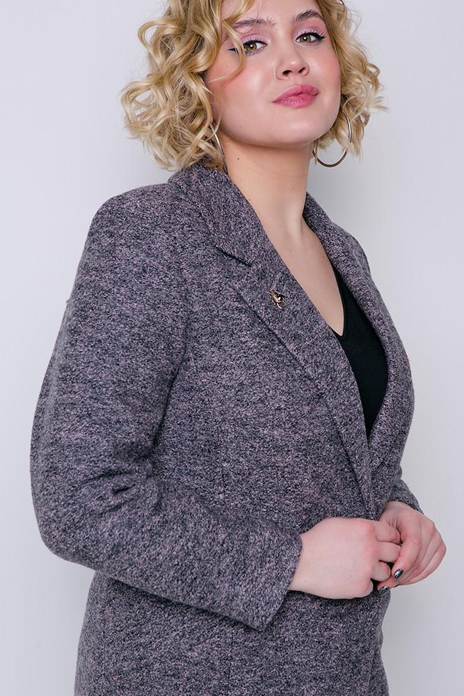 7407f7993cd Купить Демисезонное пальто «аида» серо-розовое оптом и в розницу в ...