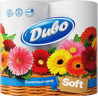"Бумага туалетная ""Диво Soft"" 2 слоя 4 рулона"