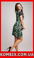 Летнее платье с винтажным рисунком | цвет - бирюзовый, фото 1