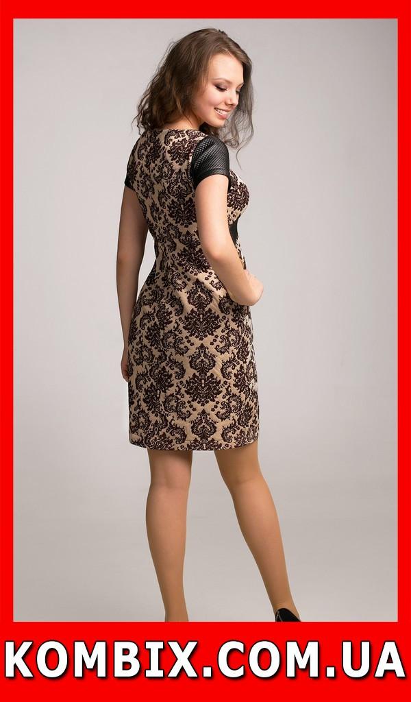 Летнее платье с винтажным рисунком   цвет - кремовый, фото 1