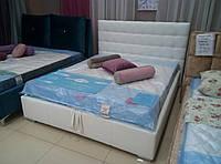 Двухспальные кровати Люкс НЬЮ-ЙОРК без матраса с ящиком для белья (квадраты)