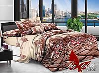 Двуспальный комплект постельного белья с Узорами с Городом, Ранфорс
