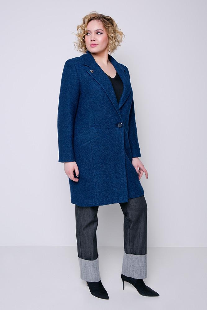 340da9e8e3e Купить Демисезонное пальто «аида» морское волну оптом и в розницу в ...