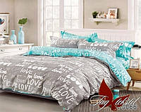 Двуспальный комплект постельного белья с надписью Любовь (Love), Ранфорс
