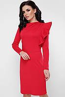 Красное платье с воланом, фото 1
