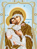 """Схема для вышивки бисером иконы """"Владимирская Икона Божией Матери"""""""