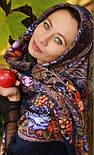 Ненаглядна 1025-14, павлопосадская шаль з ущільненої вовни з шовковою бахромою в'язаної, фото 4