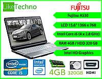 "Ноутбук Fujitsu A530 15.6"" Core i5/DDR3 4GB/HDD 250GB/Батарея до 2 час"