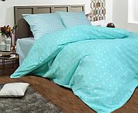 Полуторное постельное белье бязь gold - Бирюзовые альпы