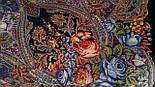 Ненаглядна 1025-14, павлопосадская шаль з ущільненої вовни з шовковою бахромою в'язаної, фото 6