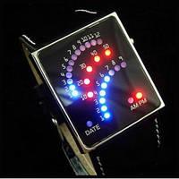 Led часы бинарные Classic