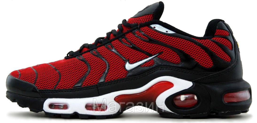 "Мужские кроссовки Nike Air Max TN Plus ""Red/Black/White"" (Найк Аир Макс ТН) красные"
