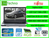"Ноутбук Fujitsu A532 15.6"" Core i5/DDR3 4GB/HDD 250GB/Intel HD/Гарантия"