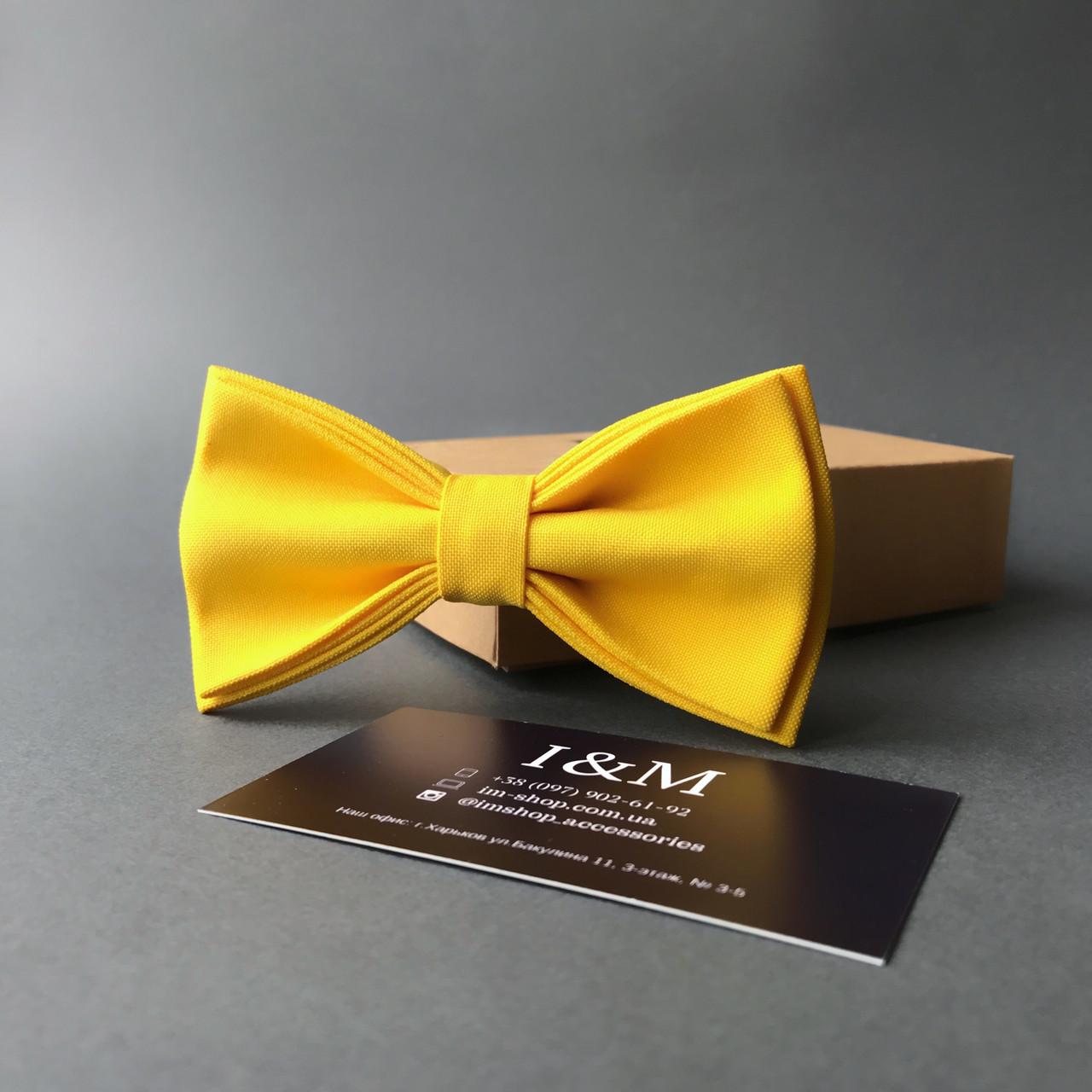 Галстук-бабочка I&M Craft классический желтый (010333)