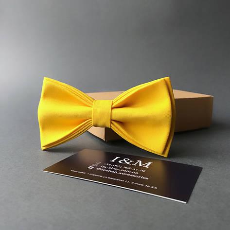 Галстук-бабочка I&M Craft классический желтый (010333), фото 2