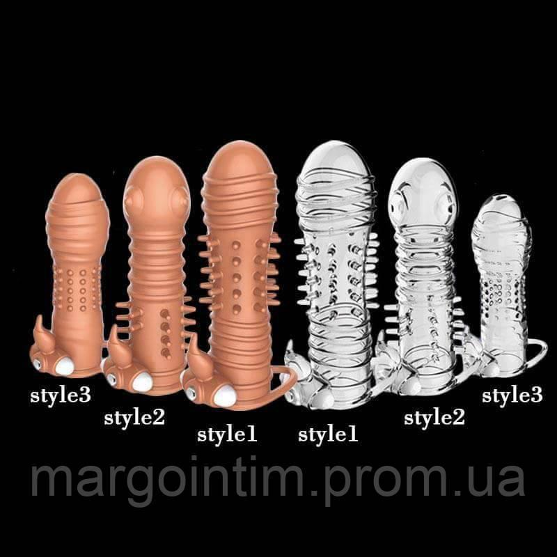Многоразовый презерватив прозрачный  стиль 2