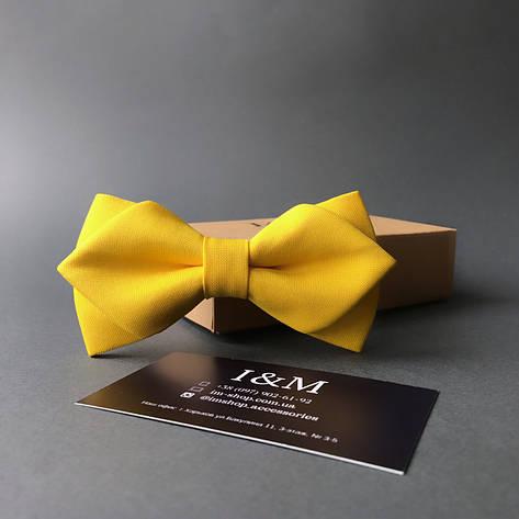 Краватка-метелик I&M Craft з гострими кінцями жовтий (100153N), фото 2
