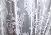 """Двусторонняя ткань блэкаут """"Лилия"""". Высота 2,8м. Цвет серый. 333ш"""