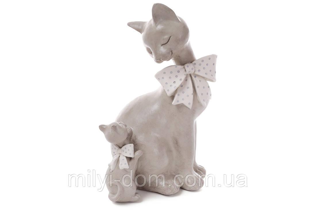 Декоративная фигурка Кошечка с котенком, 27 см