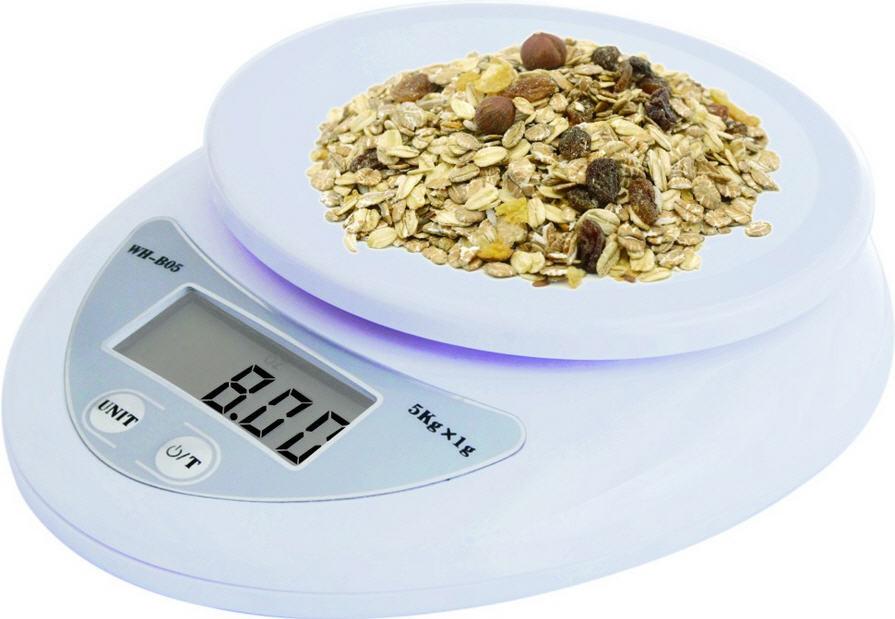 Кухонные весы WH-b05 до 5 кг с батарейками