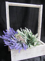 Короб из дерева для цветов, 27х27х40см, 145\115 (за 1 шт + 30 грн)