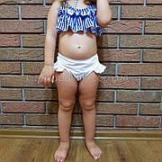 Купальник детский раздельный полосатый лиф белые плавки- 161-08